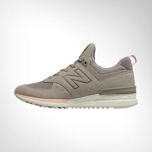 new styles 15204 1b05a Women s New Balance 574 Sport Grey Pink Shoe