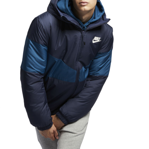 premium selection 7c927 4792a Men s Nike Sportswear Synthetic Fill Navy Blue Force Puffer jacket