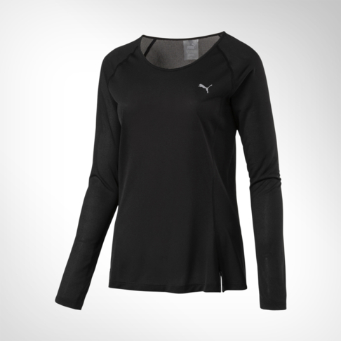 4949cb020d5 Women's Puma Core-Run Long Sleeve Black Tee