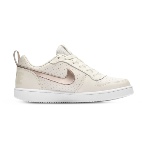 quality design e6f04 0ad7b Junior Grade School Nike Court Borough Low Cream Metallic Shoe