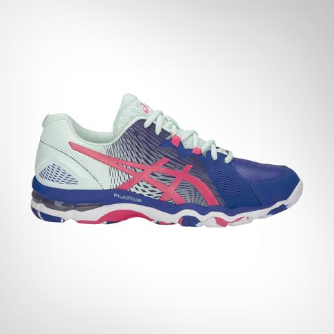 261e8f1f5198 Women s Asics Gel Netburner Super 8 Blue Pink Shoe