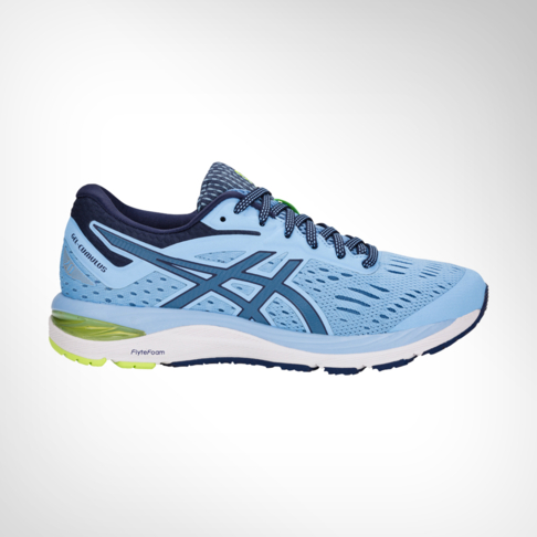 buy popular e8658 e0508 Women's Asics Gel Cumulus 20 Blue/Lime Shoe