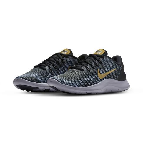 sneakers for cheap a8fe0 a888d Women's Nike Flex 2018 RN Black/Gold Shoe
