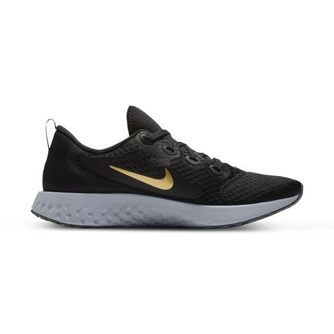 e5f3110a0755 Women s Nike Legend React Black Gold Shoe