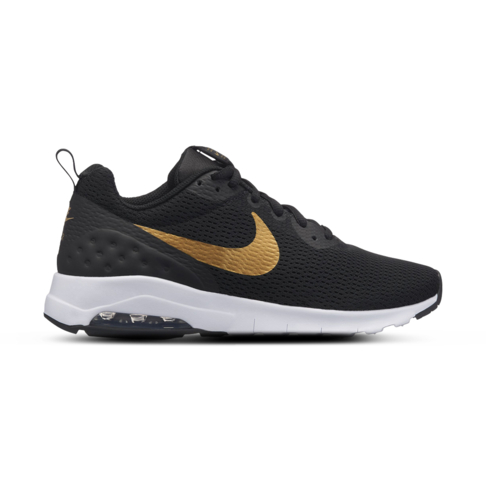 Women s Nike Air Max Motion Low Black Gold Shoe 0e127d69f