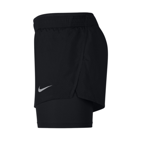 catch for whole family outlet online Women's Nike 10k 2-in-1 Black Running Shorts