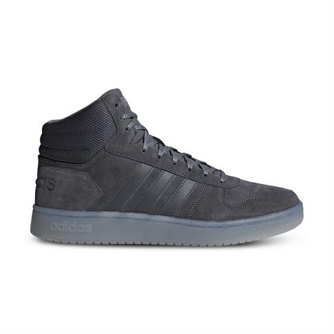 330dd0782e78 Men s adidas Hoops 2.0 Mid Suede Grey Shoe