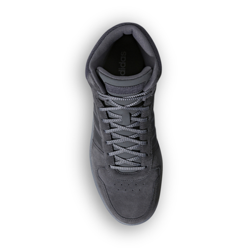 6c43fc89a0da Men s adidas Hoops 2.0 Mid Suede Grey Shoe