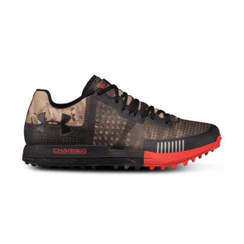 c6927635cdb00 Men's Under Armour Horizon RTT Camo/Red Shoe