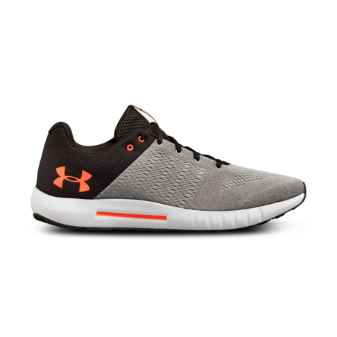 size 40 80414 6b91d Men s Under Armour Micro G Pursuit Grey Black Shoe