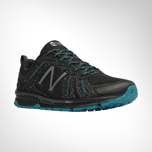 25496a5174ca7a Men s New Balance Revlite T590v4 2E Black Blue Shoe