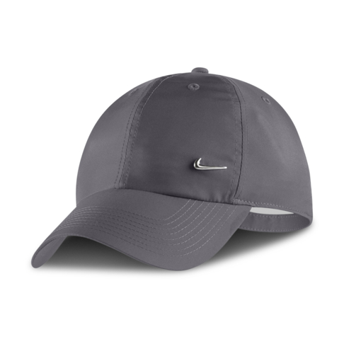 36a3235bc43 Nike Metal Swoosh Sportswear Heritage86 Dark Grey Cap