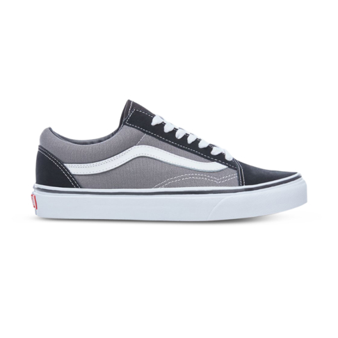 Men s Vans Old Skool Black Grey Shoe 771e2e31403d