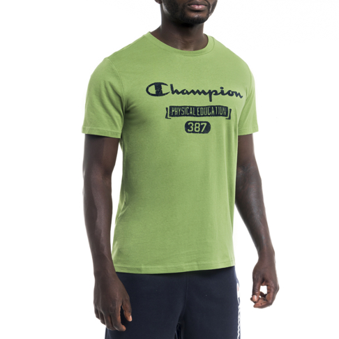 75327763 Men's Champion Green Graphic Cotton Jersey Tee