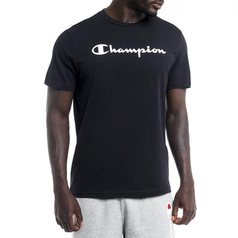 bas prix comment choisir bon service Men's Champion Basics Black Cotton Tee