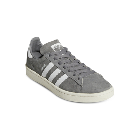 so cheap in stock good selling Men's adidas Campus Grey/White Suede Shoe