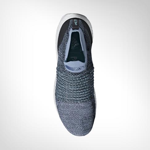 san francisco e199f 14357 Men's adidas Ultra Boost Laceless Parley Blue Shoe