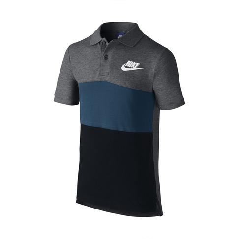 531d62e0ae Boys Nike Sportswear Grey/Blue Polo