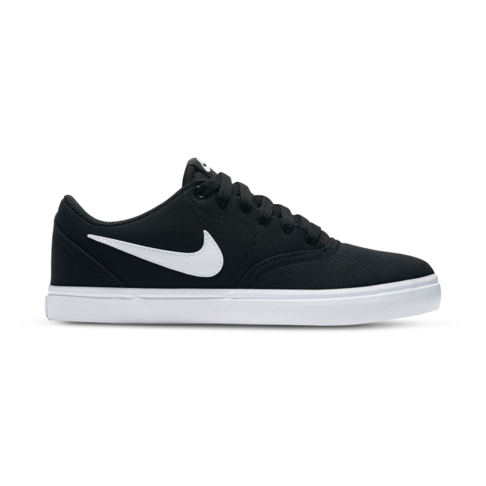 210a5af84f1 Women s Nike SB Check Solar Canvas Black White Shoe