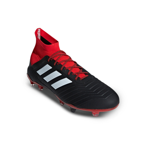 4ad5020aac2 Men s adidas Predator 18.1 FG Black White Red Boot