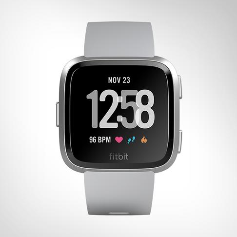 Fitbit Versa Grey/Silver Aluminum Smartwatch
