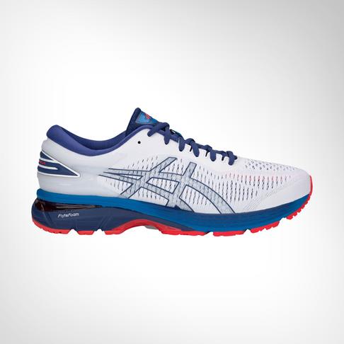 3bd4229c30 Men's Asics Gel Kayano 25 White/Blue Shoe