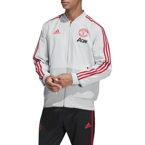 ac4a95fa6 Men s adidas Manchester United Grey Red Presentation Jacket