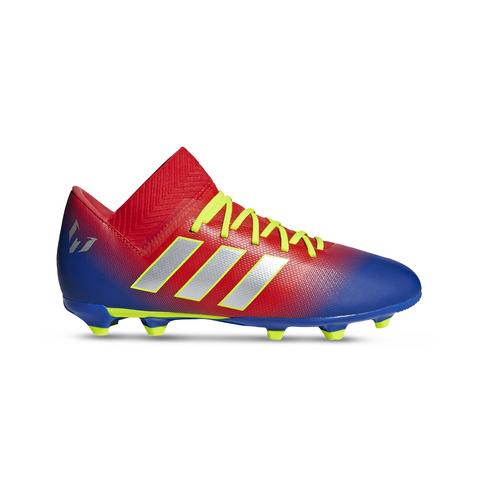 f0f6b88f7b1a Junior adidas Nemeziz Messi 18.3 Firm Ground Red/Blue Boots