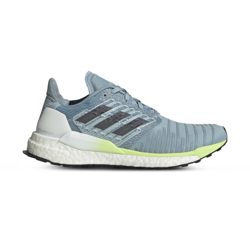 lowest price cfb88 6c5d1 Women's adidas Solar Boost Grey/Lime Shoe