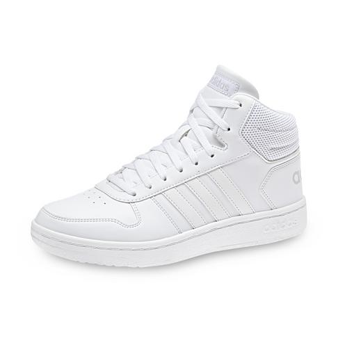 ca43ecbb636 Women s adidas Hoops 2.0 Mid White Shoe