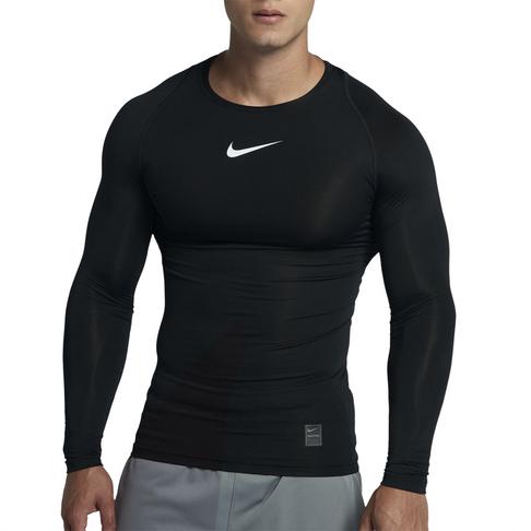 09de2fd2 Men's Nike Pro Long Sleeve Compression Black Top