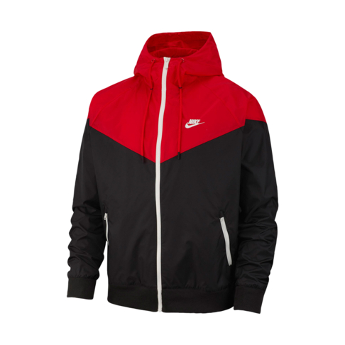 992e84e8e699 Men s Nike Sportswear Windrunner Black Red Hooded Jacket