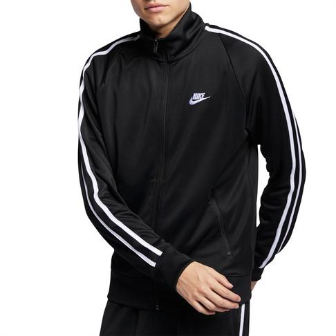ebee2e17 Men's Nike Sportswear N98 Tribute Black/White Jacket