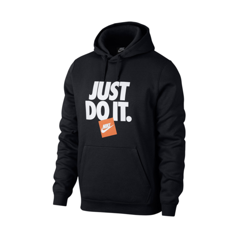 f6a1ce976 Men's Nike Sportswear Just Do It Black Fleece Hoodie