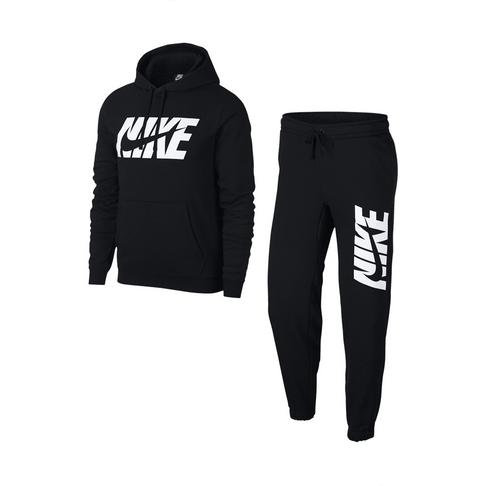 5292c320 Men's Nike Sportswear Fleece Graphic Black Tracksuit