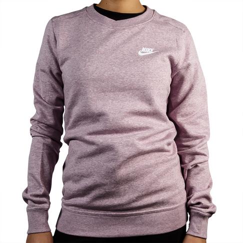 promo code be9b1 d1633 Women s Nike Sportswear Club Plum Dust Fleece Crew