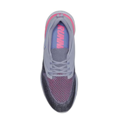 15199c4c538cb Women s Nike Odyssey React 2 Flyknit Grey Purple Shoe