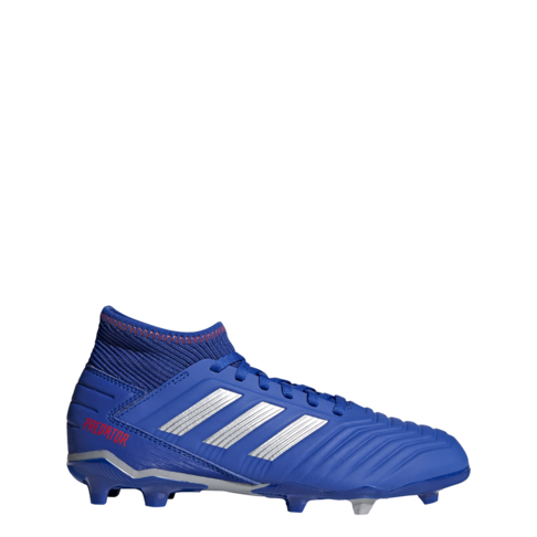 official store half price low price Junior adidas Predator 19.3 FG Blue/Silver Boots