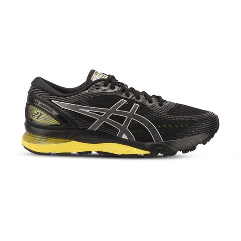 44dac3362 Men s Asics Gel Nimbus 21 Dark Green Yellow Shoe