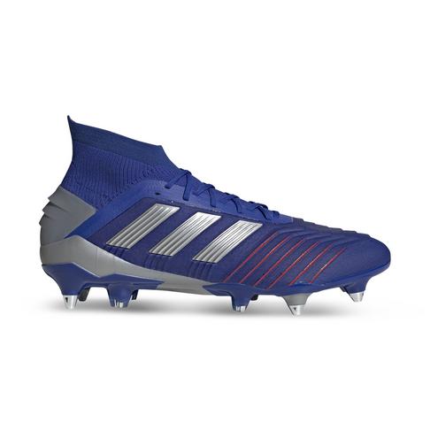 5903d26fbd Men s adidas Predator 19.1 SG Blue Silver Boots