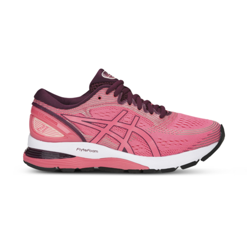 taille 40 19a26 7ce65 Women's Asics Gel-Nimbus 21 Pink/Purple Shoe
