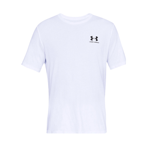 02b72445f7a Men's Under Armour Sportstyle Left Chest Lockup White Tee