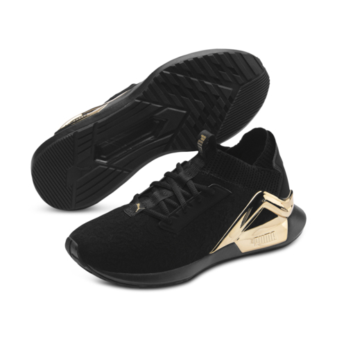 mieux aimé c9f8c fab44 Women's Puma Roque Metallic Black/Gold Shoe