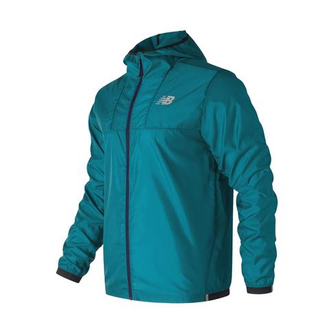 01be0b75c2b72 Men's New Balance Light Packable Teal Jacket