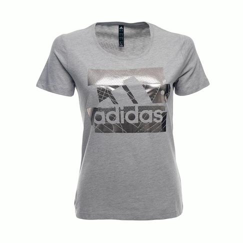 b4135a2a9907 Women s adidas Badge of Sport Foil Grey Silver Tee