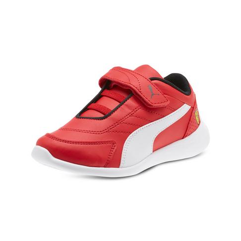 grande vente 21e1e 1d21e Junior Pre-School Puma Ferrari Kart Cat Red/White Shoe