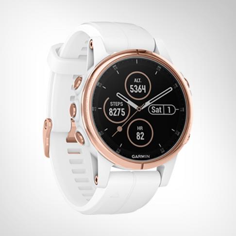 Garmin Fenix 5S Plus Sapphire Rose/Goldtone GPS Watch