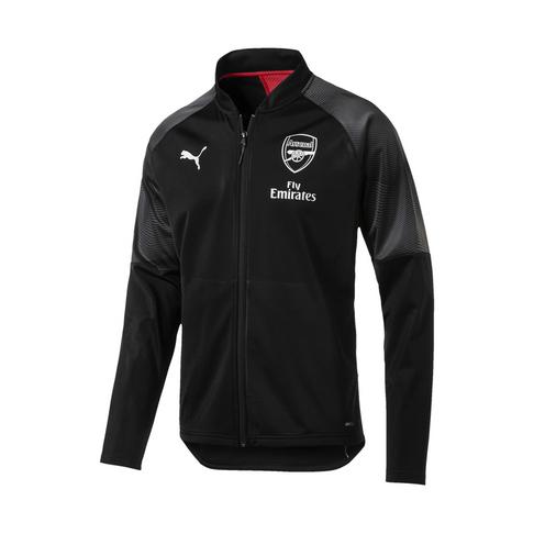 cdde13a8e Men s Puma Arsenal FC Stadium 2019 Black Grey Jacket