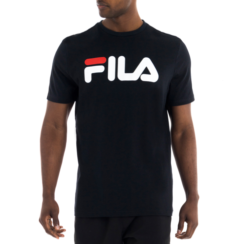 9211ff944d Men s Fila Logo Deckle Black Tee