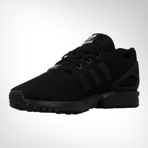 the latest bb72f 8c055 Junior Grade School adidas ZX Flux Black Shoe